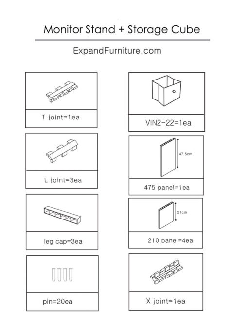 monitor-stand-and-storage-cube-parts
