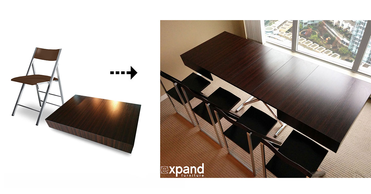 Coffee table converts to dining room table