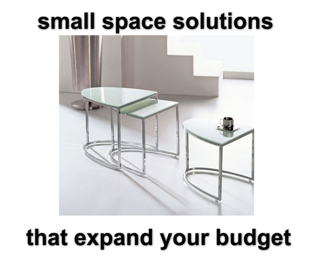 small space solutions on a budget