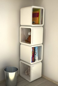 Unique modular shelving system