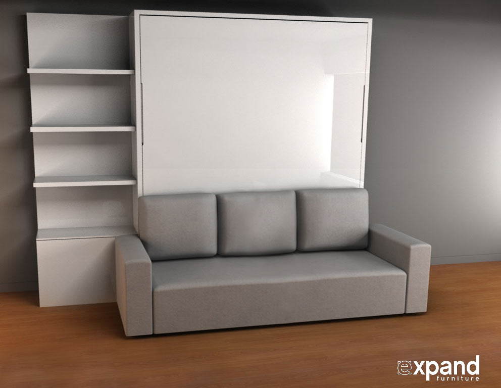 Murphysofa king size murphy bed with sofa expand furniture folding tables smarter wall Murphy bed over couch