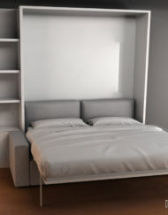 King Size Murphy Bed Over Sofa Folded Open