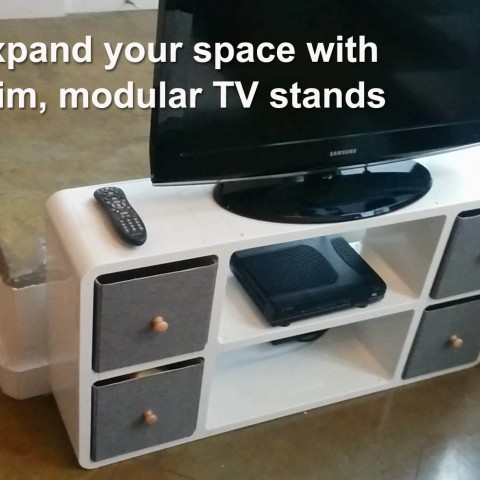 Expand your space with modular TV stands
