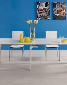 Transforming stylish console to dining table