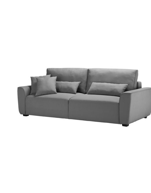 Cloud Queen Sofa Sleeper In Stone Grey Fabric