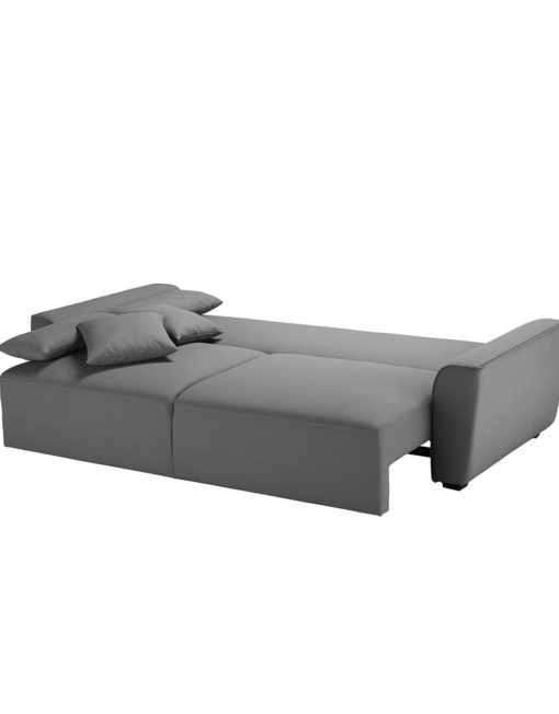 Cloud-Queen-Sofa-Sleeper-opened-in-stone-grey-fabric