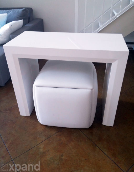 Cube 5 In 1 Ottoman Seat Space Saver Expand Furniture Folding Tables Smarter Wall Beds