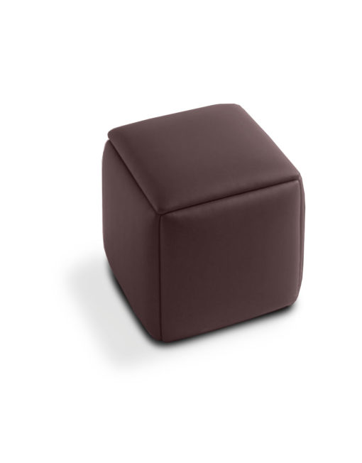 Cube-5-in-1-Ottoman chair-in-brown-eco-leather