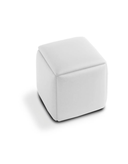 Cube-5-in-1-Ottoman seat-in-White-eco-leather