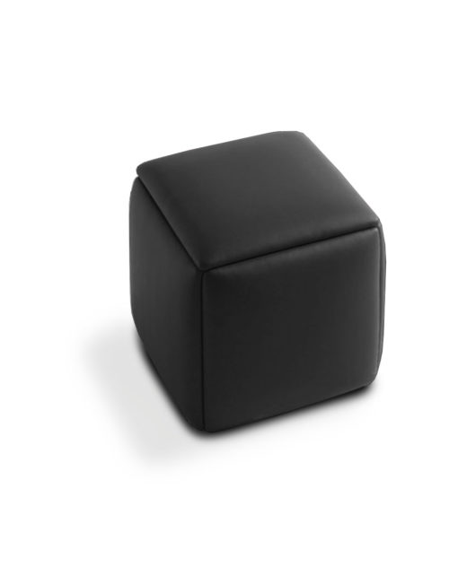 Cube-5-in-1-Ottoman-seat in-black-leather