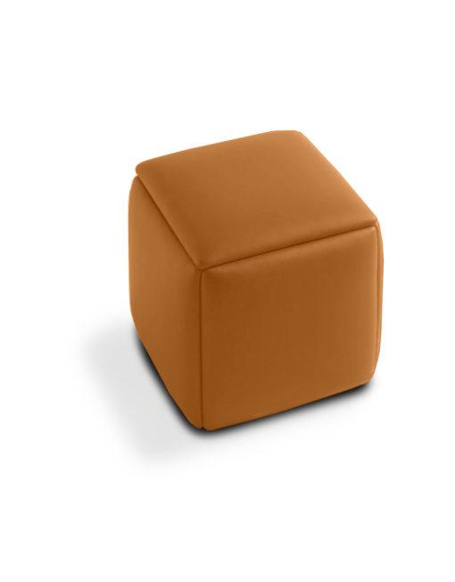 Cube 5 In 1 Ottoman Stool In Naturale Orange