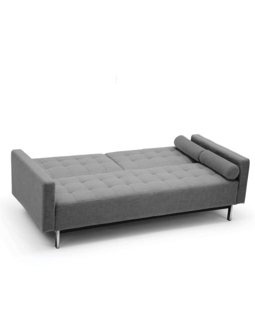 Tilt-Mid-Century-Sofa-in-Stone-Grey-converted-into-sleeper-bed-1