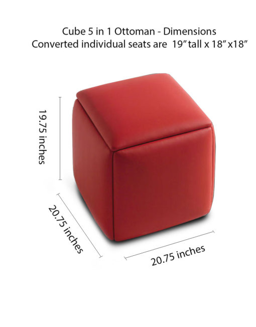Cube 5 in 1 Ottoman Seat Space Saver Expand Furniture  : Transforming Cube 5 in 1 dimensions 510x652 from expandfurniture.com size 510 x 652 jpeg 29kB