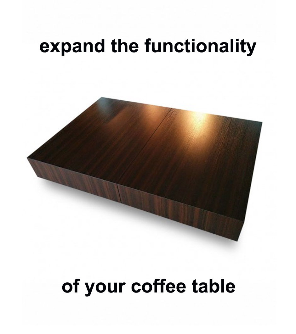 Expanding Coffee Table