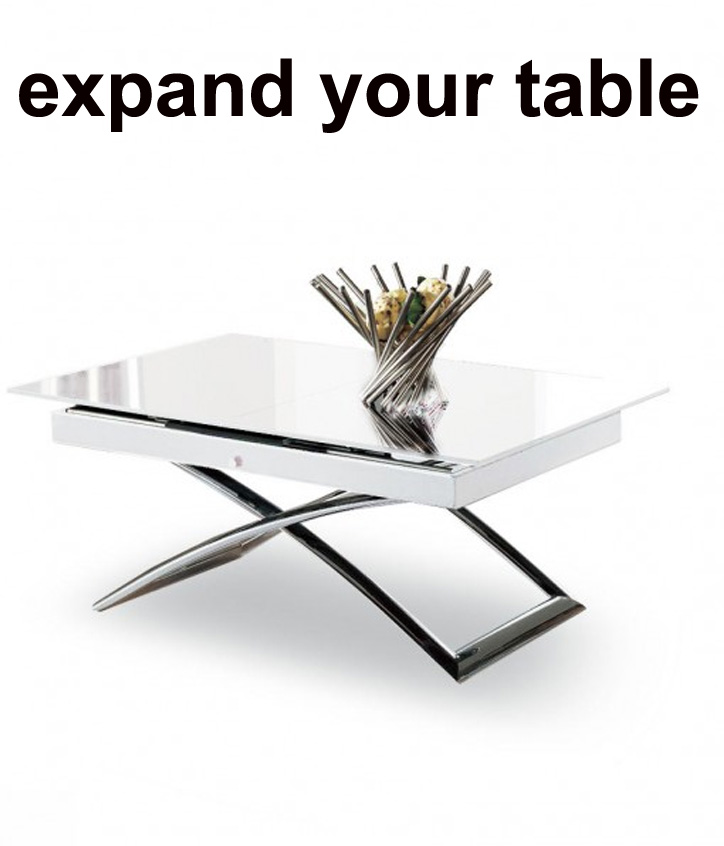 Expanding tables by expand furniture