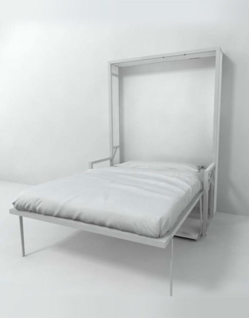 Free-Standing-Wall-Bed-Desk-Vertical-Queen-open