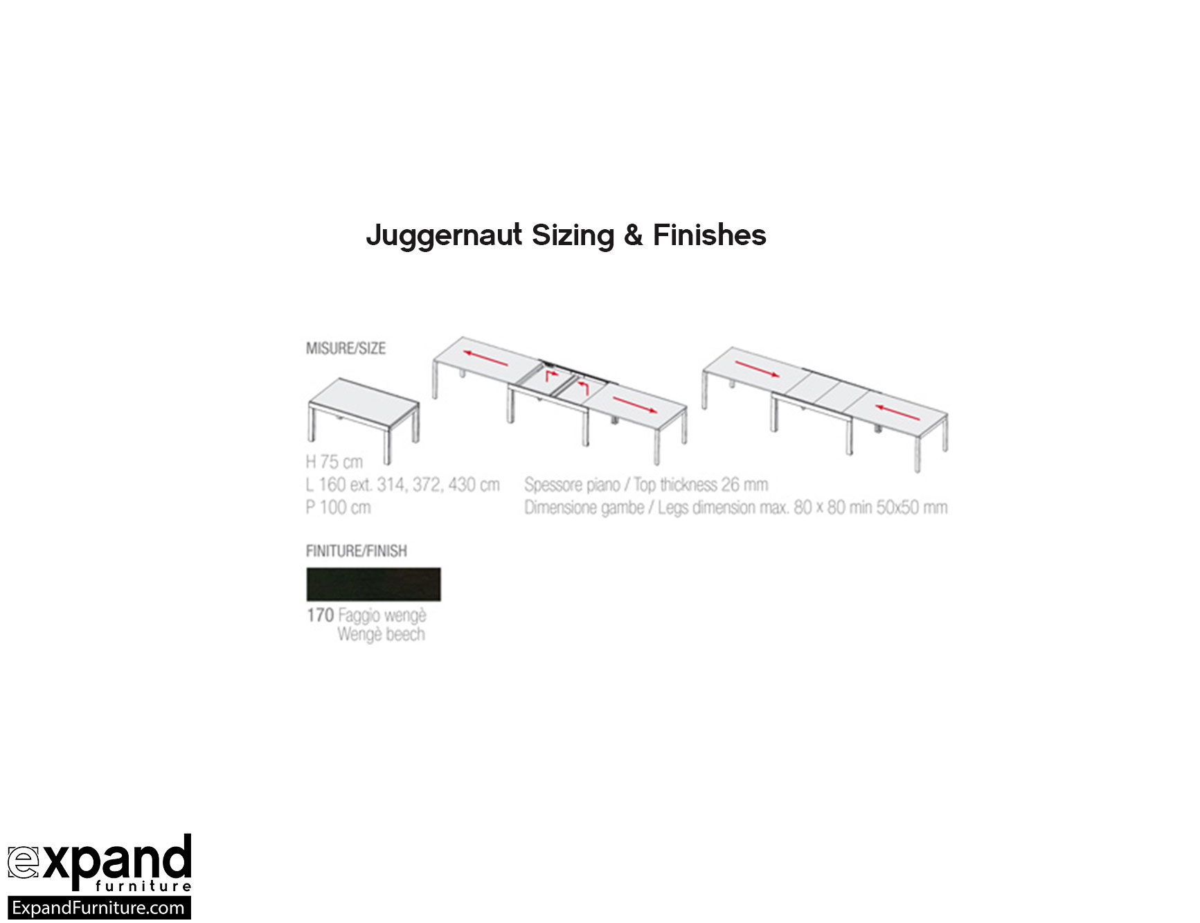 Juggernaut Massive Extendable Table Seats 22 Expand Furniture