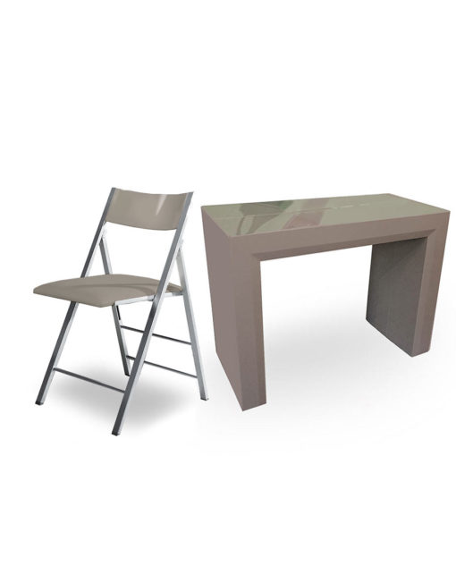Junior-Giant-in-grey-coffee-gloss-with-matching-nano-chairs