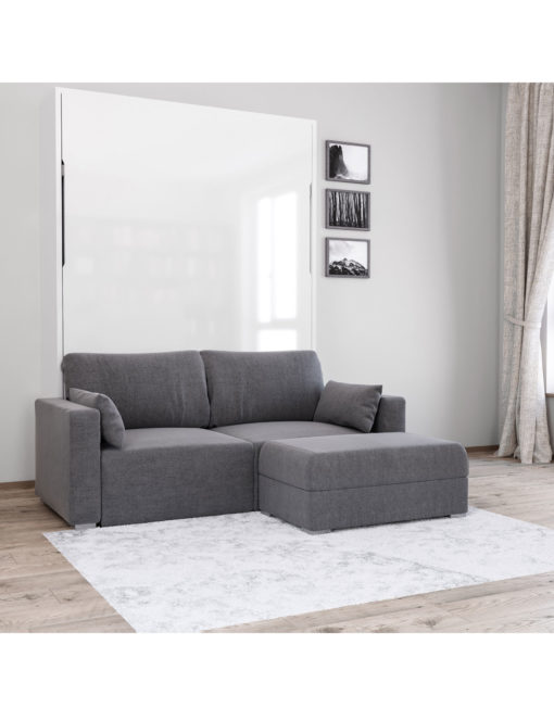 MurphySofa-Minima-Sectional-mini-wall-bed-couch-combo-in-Iron-Grey