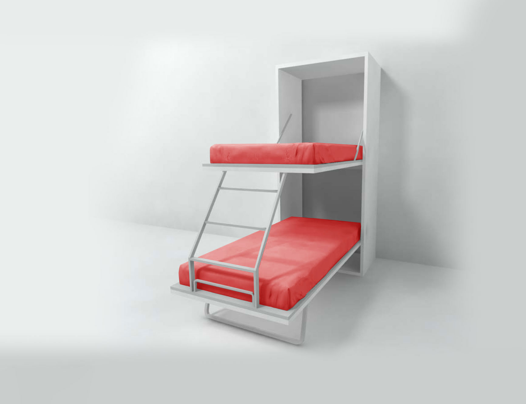 Picture of: Compatto Hidden Vertical Murphy Bunk Beds Expand Furniture