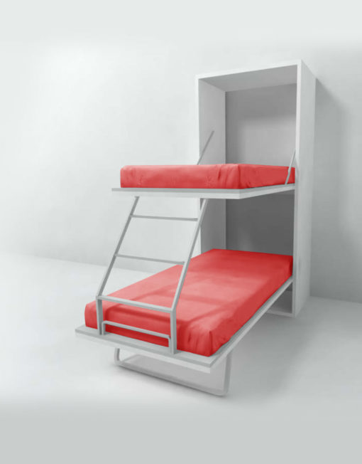 Compatto Hidden Vertical Murphy Bunk Beds Expand Furniture