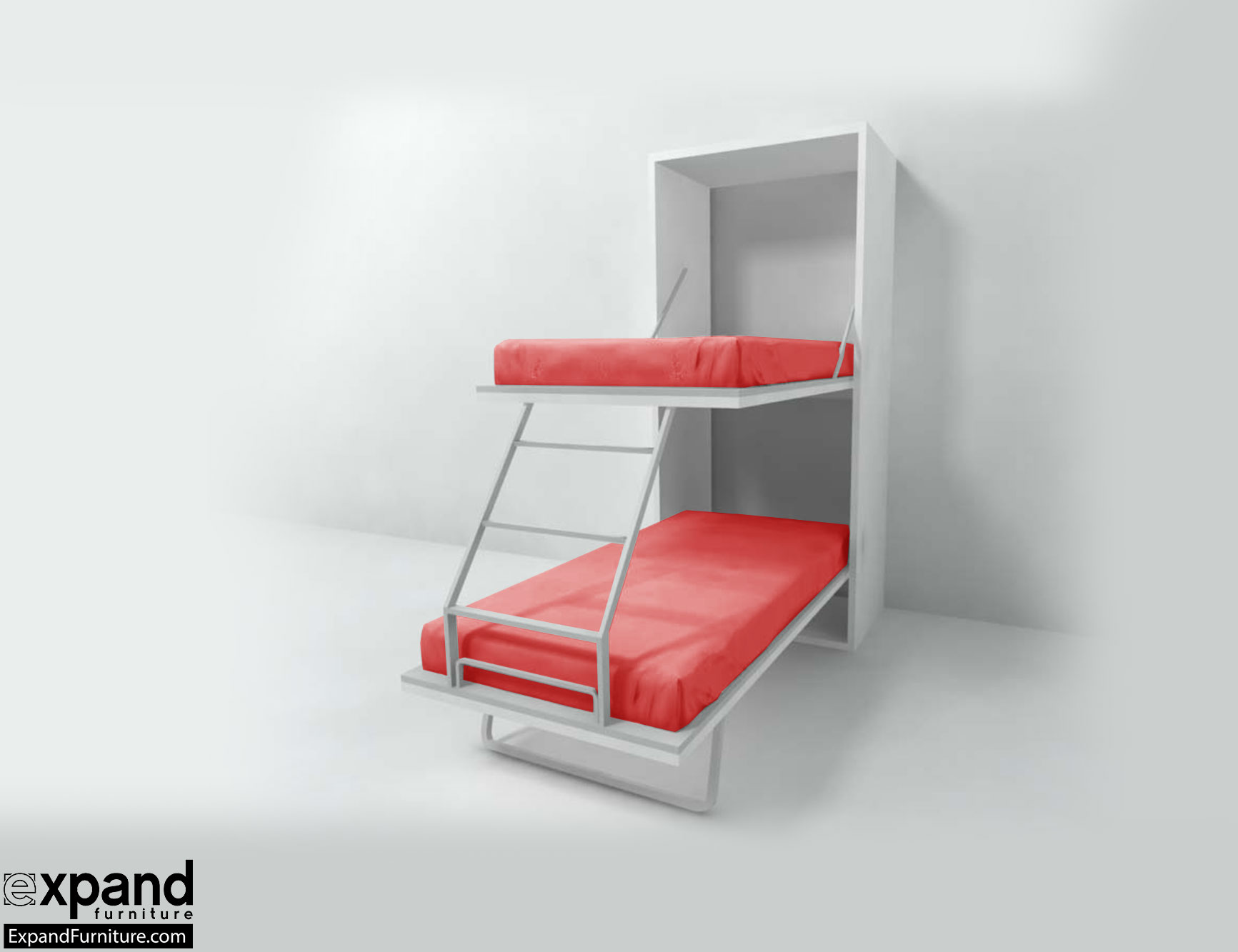 Compatto hidden vertical murphy bunk beds expand furniture - Save spacing bunk bed ...
