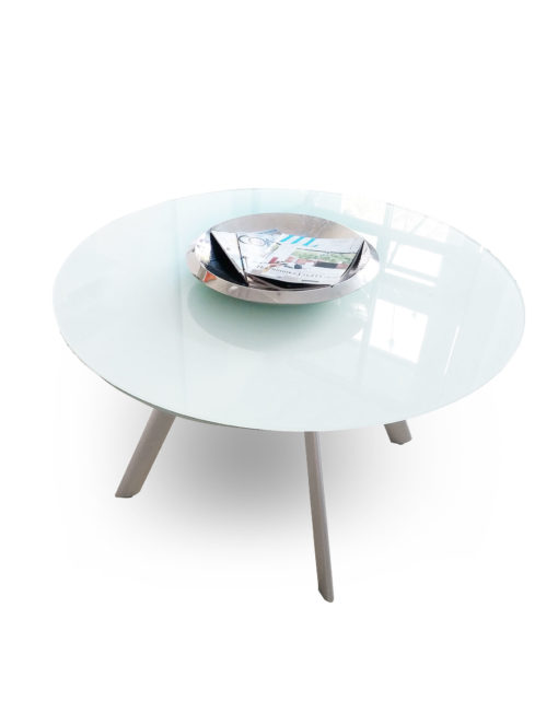 Butterfly Compact Glass Round Table Extends