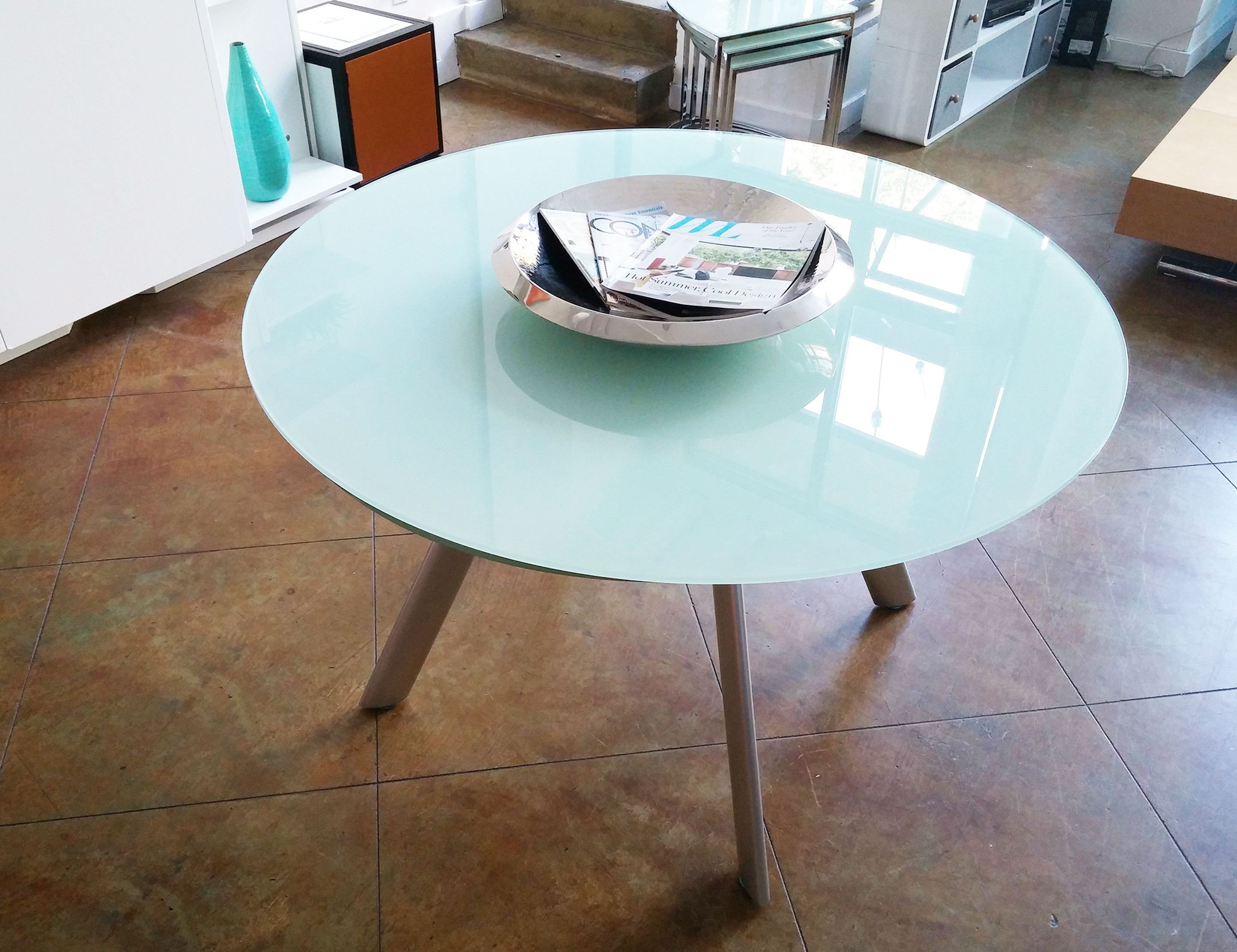 The Butterfly Expandable Round Glass Dining Table Expand Furniture Folding Tables Smarter Wall Beds Space Savers