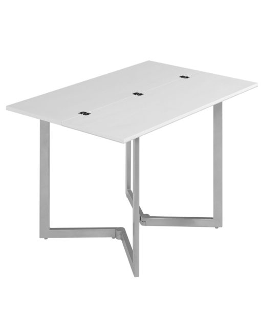 Min Flip console table in white glass - doubled in size
