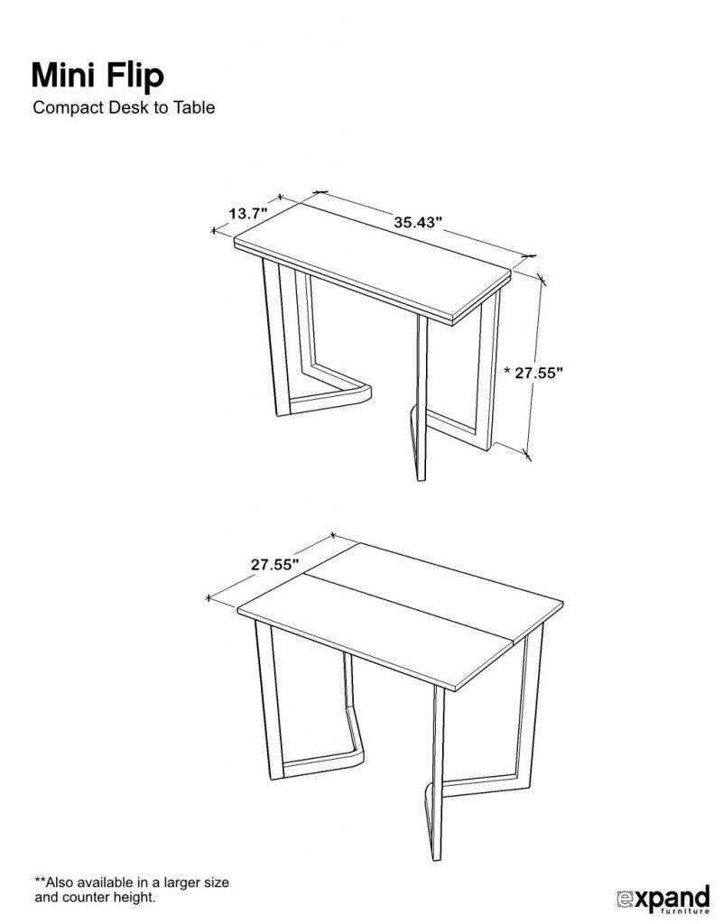 Mini Flip Dimensions