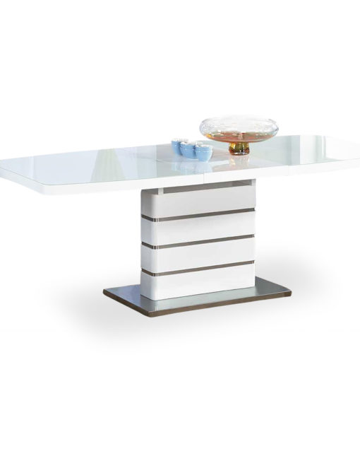 Opulent-glass-dinner-extendable-white-table
