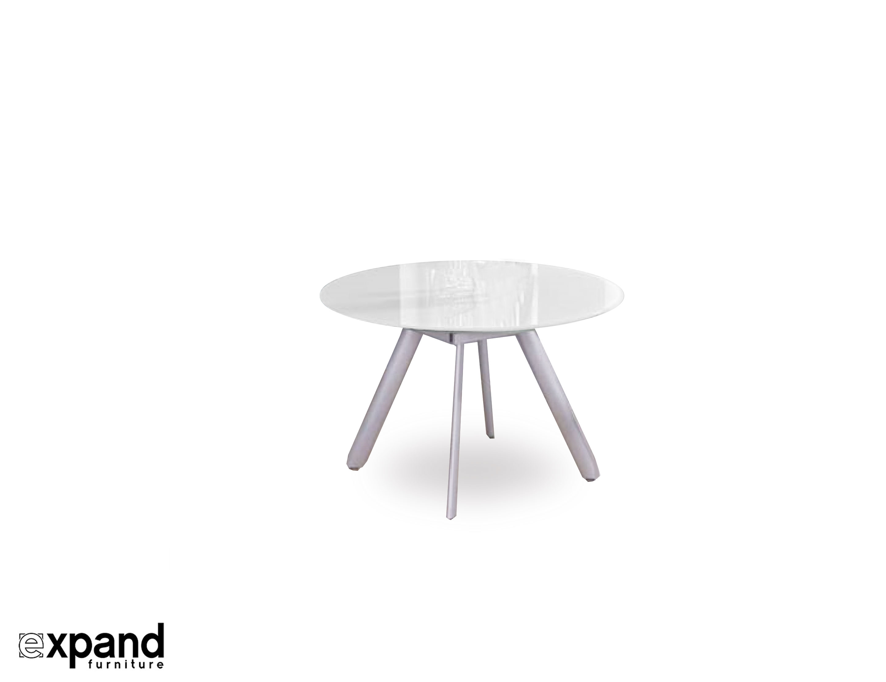 The Butterfly Expandable Round Glass Dining Table Expand Furniture Foldin