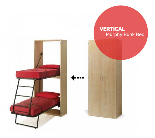 Beautiful Design Of Vertical Murphy Bunk Beds