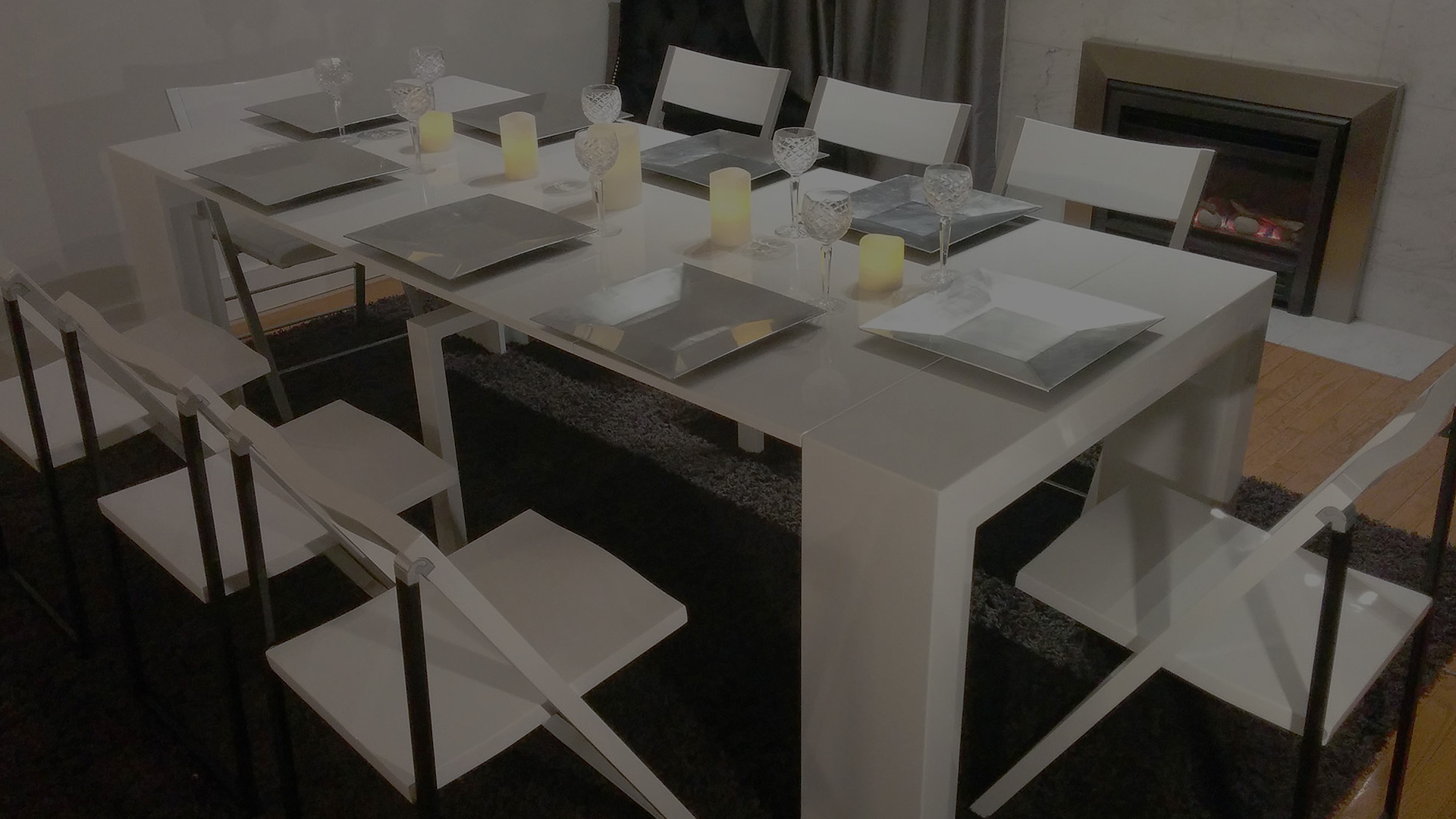 Awesome space saver dining table and 4 chairs light of for Space saving dining table
