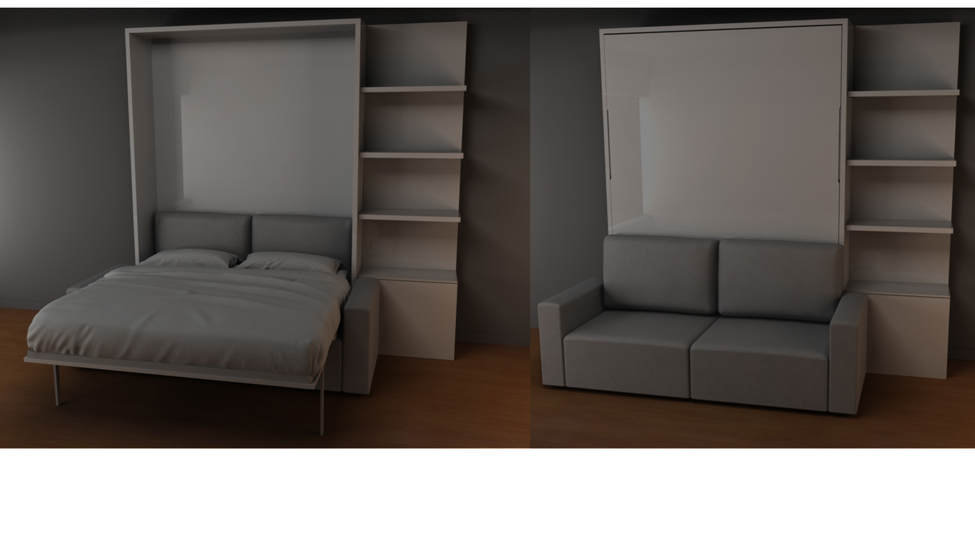 Space Saving Murphy Bed Sofa Combinations