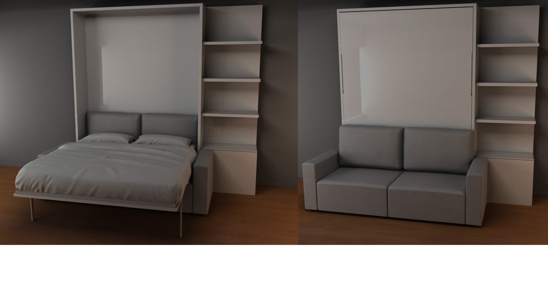 Wall Bed Sofas Wall Beds That Transform Into Sofas - Murphy bed couch ideas space savers