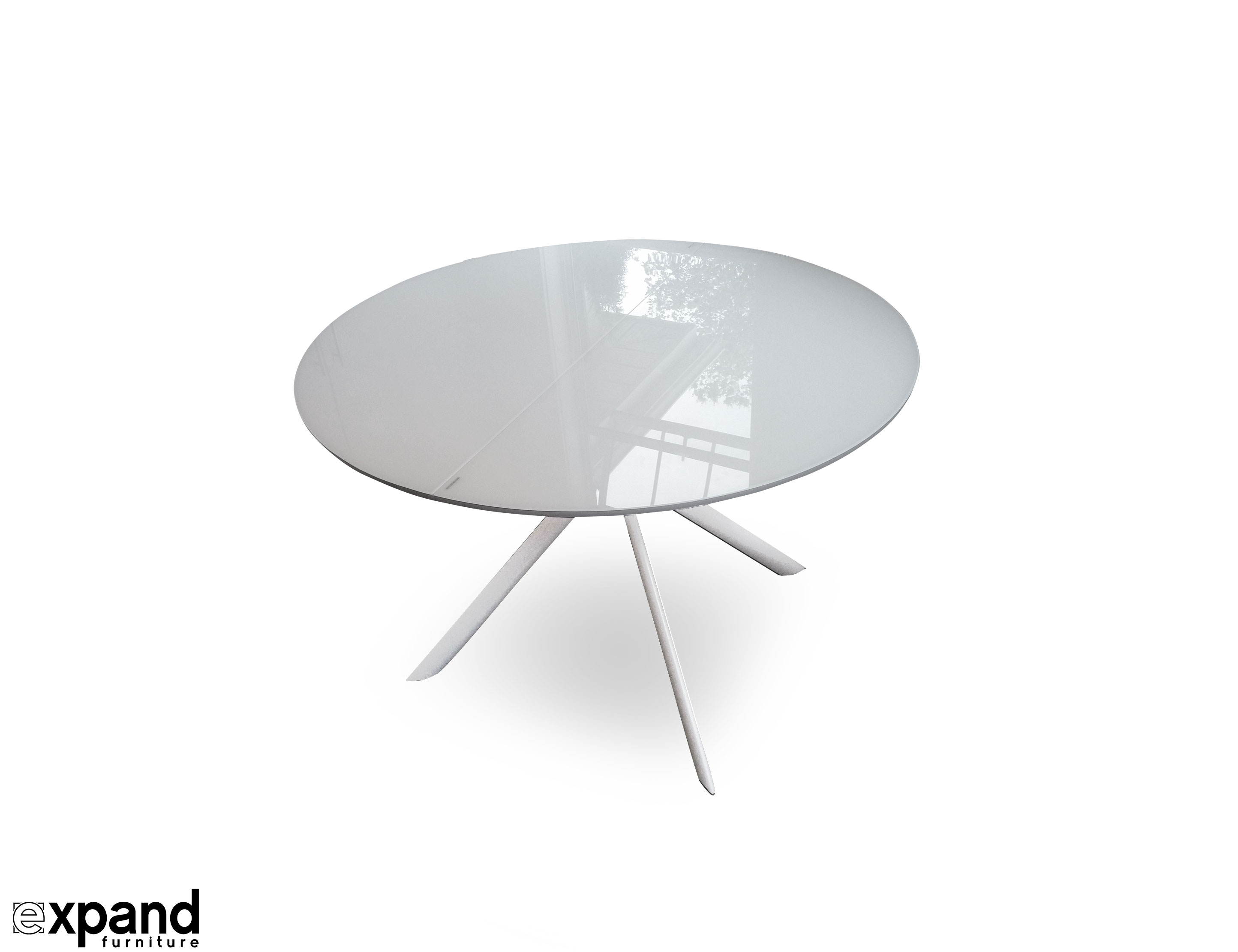 Tide Round to Elliptical Glass Kitchen Table