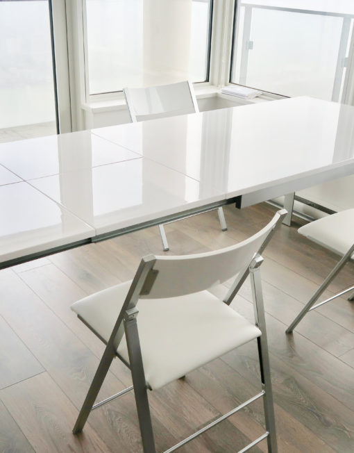 White-gloss-abode-table-expand-furniture-extending-table-metal-legs