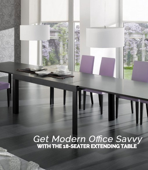 Get Modern Office Savvy with the 18-Seater Extending Table