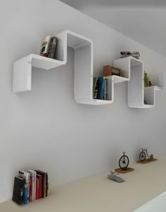 Modular Staggered Wall Shelving Perfect For Living Rooms