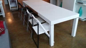 Pillar Dining Table that Extends to Seat 12