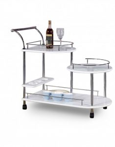 Multi Height Kitchen Island Cart and Bar