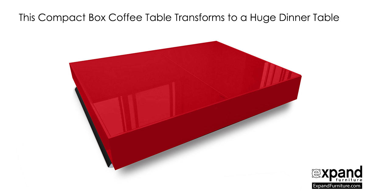 Compact Box Coffee   Table That Changes To A Dinner Table | Expand Furniture