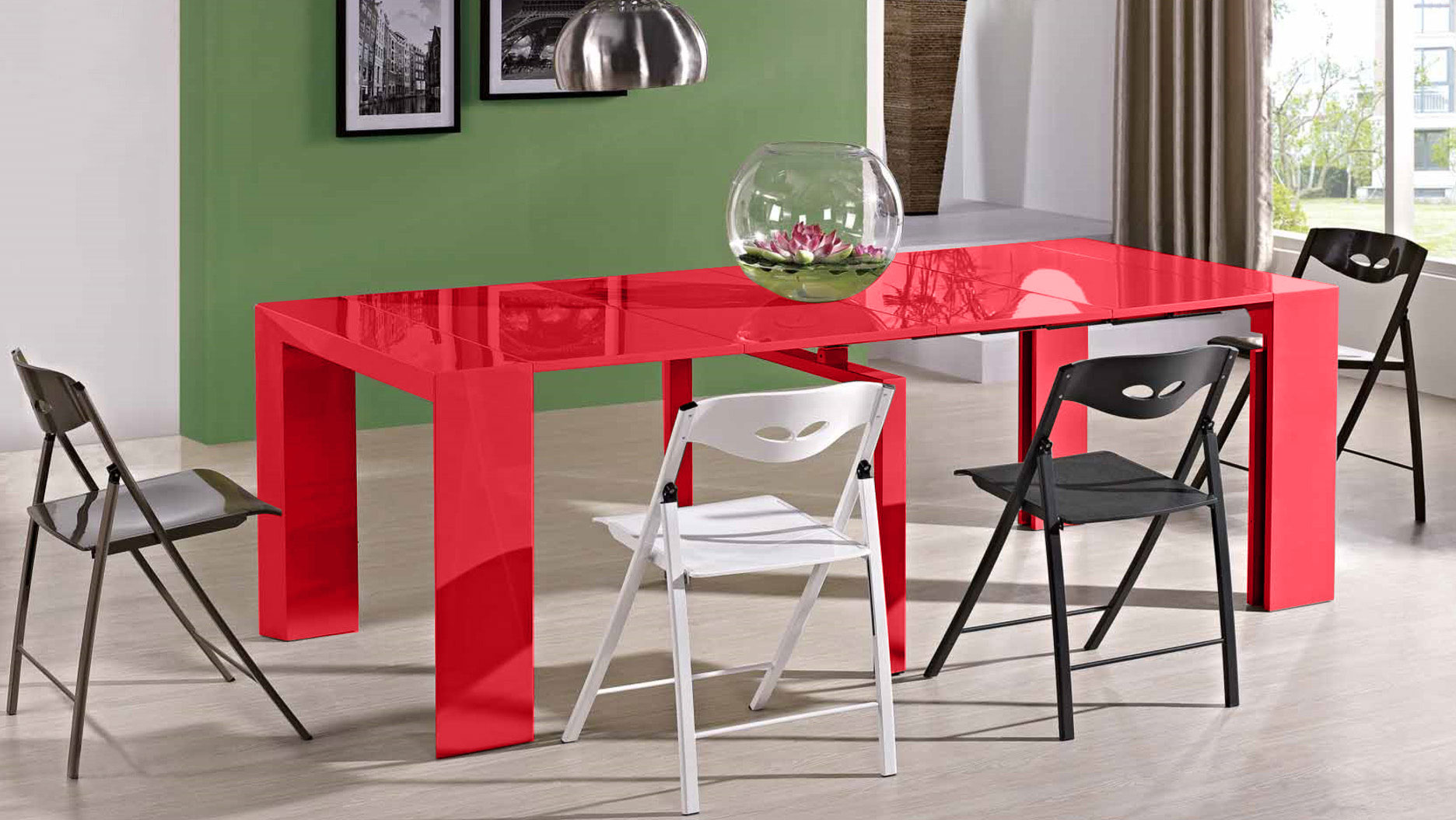 Jr Edge Dining Set Super Extending Console Table