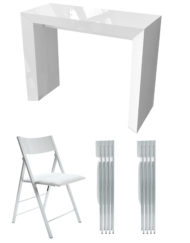 Junior-giant-edge-dining-set-in-white-gloss-with-8-nano-chair-bundle