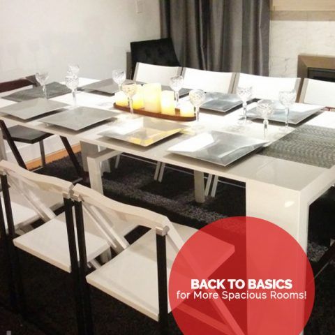 Back to Basics for More Spacious Rooms