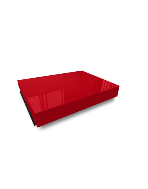 Compact Box Coffee Table In Red Glass And