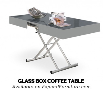 Glass Box Coffee Table By Expand Furniture