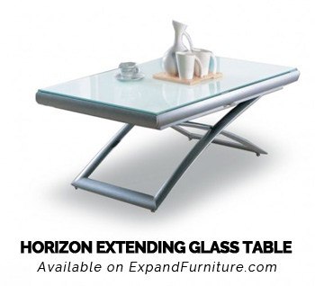 Horizon Extending Glass Table