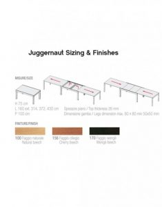 Juggernaut – Massive Extendable Table Sizing & Finishes